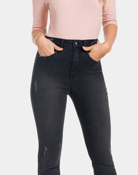 a252af4b8 Calça Jeans com Elastano Preto Reativo