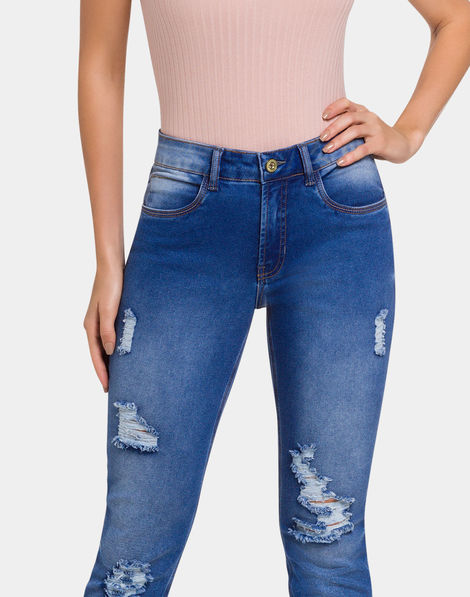 9ca21df22 Calça Jeans Jeans Médio