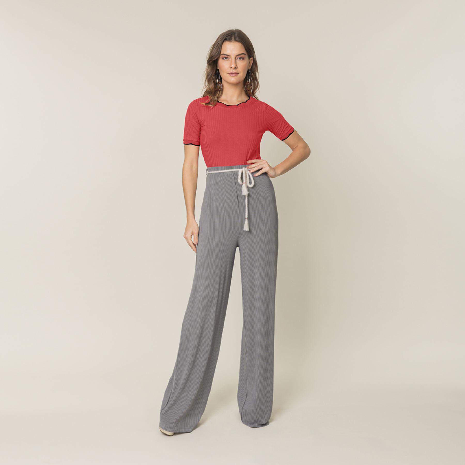 Calça pantalona Lunender