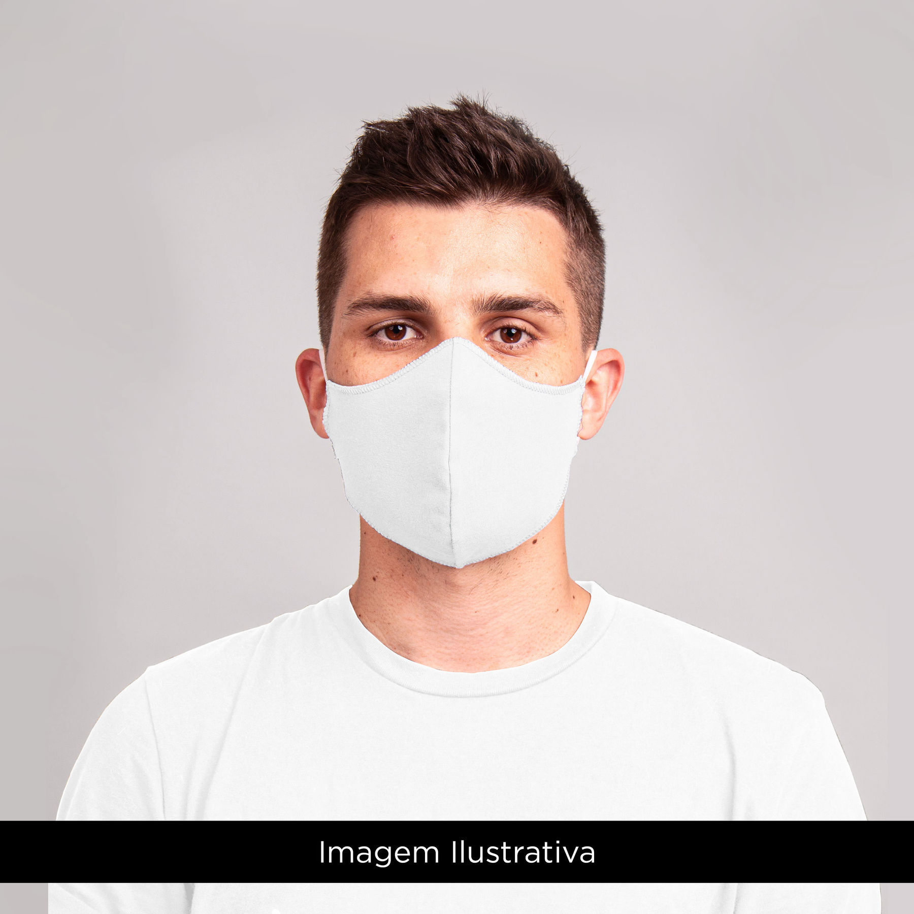 Kit 4 Máscaras Unissex Adulto Branco - Lunender